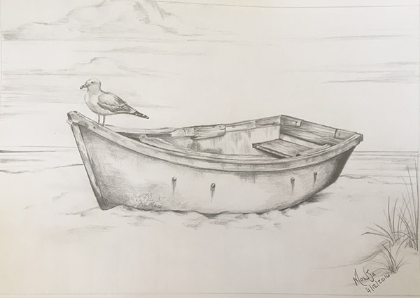 Coloring Pages For Adults Boats : Adult colouring pages lonely boat colour my dreams