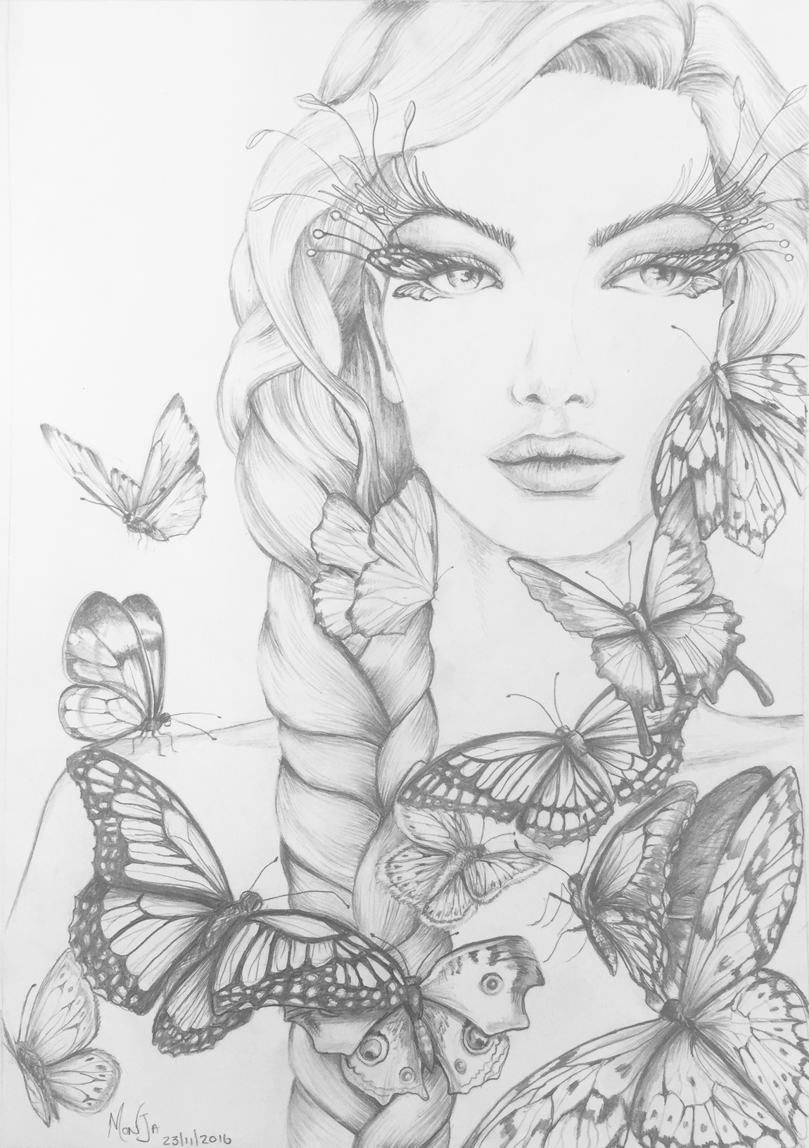 Adult Colouring pages - Butterflies - Colour My Dreams